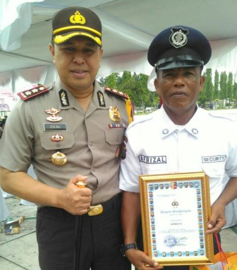 AKBP Deni Okvianto Apresiasi Satpam Berprestasi Se-Riau dari Kampar