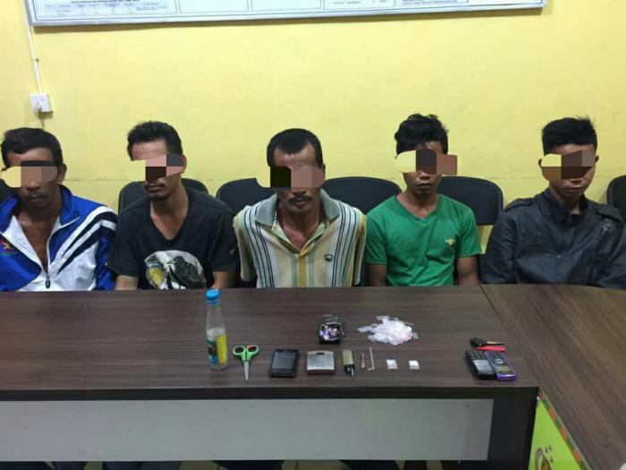 Dinihari Tadi, Polisi Kembali Tangkap 5 Tersangka Narkoba di Meranti