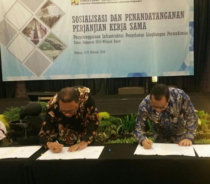 Bupati Meranti Teken Perjanjian Kerjasama dengan Kementerian PUPR, Terkait Hal Ini..
