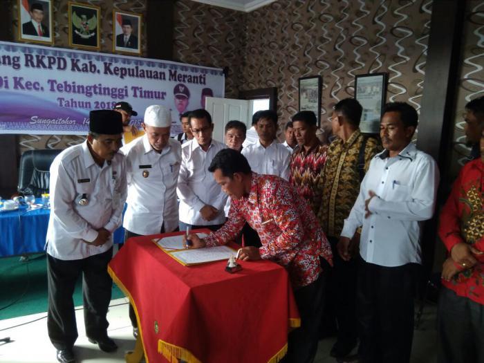 Wabup dan Ketua DPRD Meranti Ikut Musrenbang Kecamatan Tebingtinggi Timur