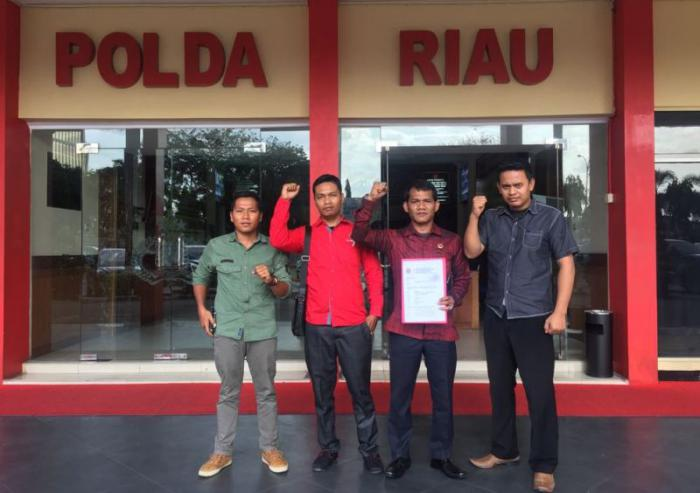 PDIP Bengkalis Laporkan 4 Pemilik Akun Fb Penghina Megawati ke Polda Riau