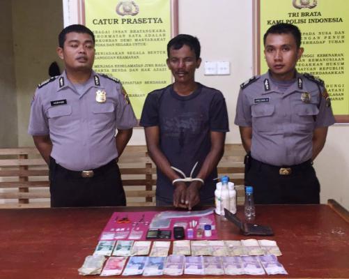 Melawan, Bandar Narkoba di Dor Polisi