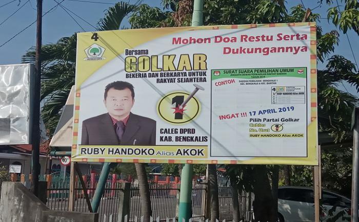 Caleg Partai Pengusung Di Bengkalis 'Ogah' Pasang Poto Jokowi