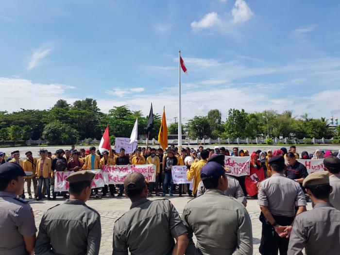 Aksi Damai Terjadi di Kabupaten Inhil, Berikut Ini Tuntutan Massa?