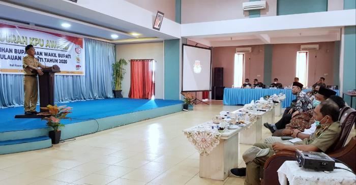 Wabup H. Asmar Hadiri Acara Anugerah KPU Award 2020