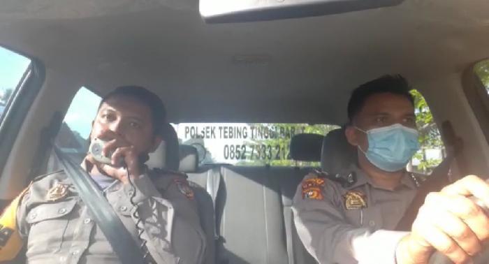 Gelar Penling, Polisi di Tebingtinggi Barat Ajak Masyarakat Disiplin Prokes