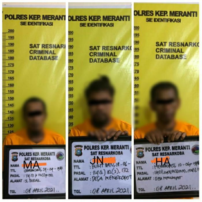 Polisi Bongkar Jaringan Pengedar Sabu di Selatpanjang, 3 Orang Ditangkap