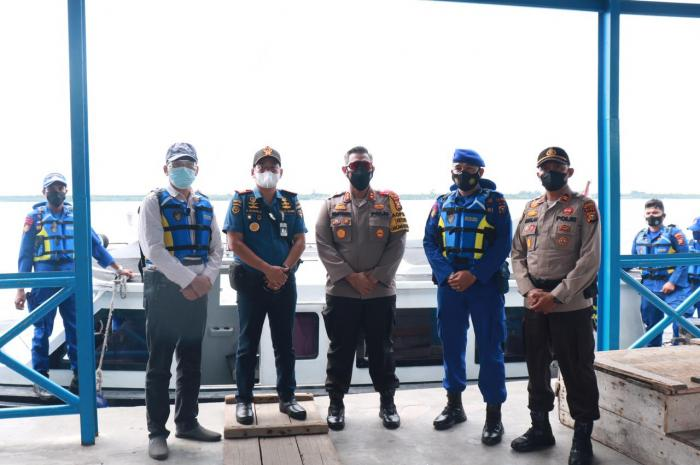 Gelar Patroli Laut, Kapolres Pastikan Tidak Ada Aktivitas Mudik Lebaran