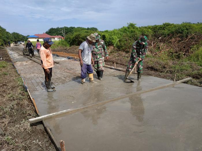 Membangun Dari Pesisir ke Kota, Satgas TMMD ke 108 Kodim 0303/Bengkalis Mewujutkan Visi Misi Pembangunan Nasional