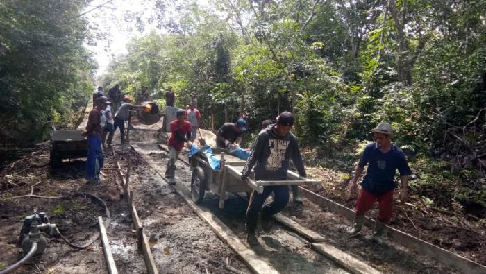 Warga Desa Api - Api: Terimakasih Satgas TMMD Ke 108 KODIM 0303/ Bengkalis