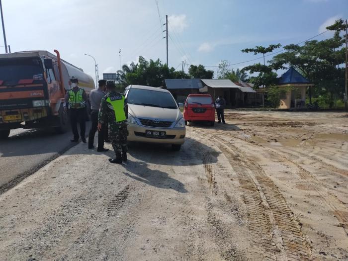 Tim Gugus Tugas Covid 19 Wilayah Minas Rutin Gelar Operasi Yustis Di Jalan Lintas