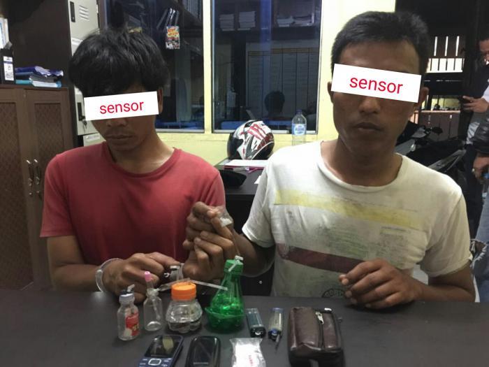 Diduga Pesta Shabu, 2 Pria di Selatpanjang Diciduk Polisi, 2 Melarikan Diri