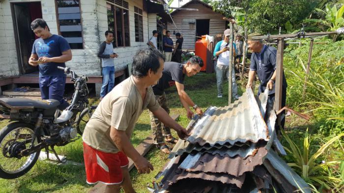 Gandeng Baznas, KP2K Meranti Rehab Rumah Janda di Selatpanjang Timur