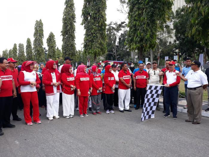 Pemprov Riau Gelar Gerak Jalan Santai Hari Jadi ke-62 Provinsi Riau