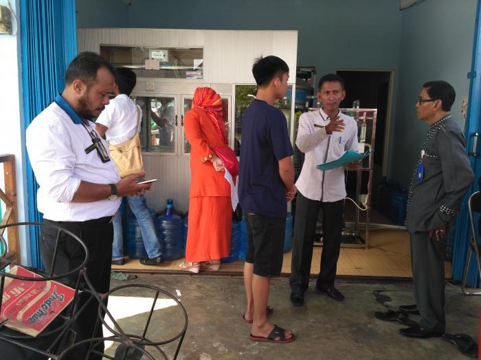Diskes Bengkalis Temukan Pengusaha Depot Air Minum Tak Kantongi Izin