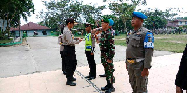 Polres Kampar Laksanakan Apel Gelar Pasukan Ops Mantap Brata Muara Takus 2018
