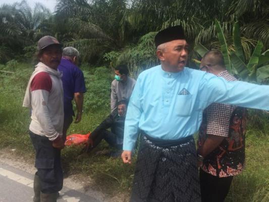 Aksi Gubri Tolong Korban Kecelakaan di Bengkalis