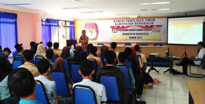 Pelatihan Kader Sadar Pemilu Ala KPU Bengkalis