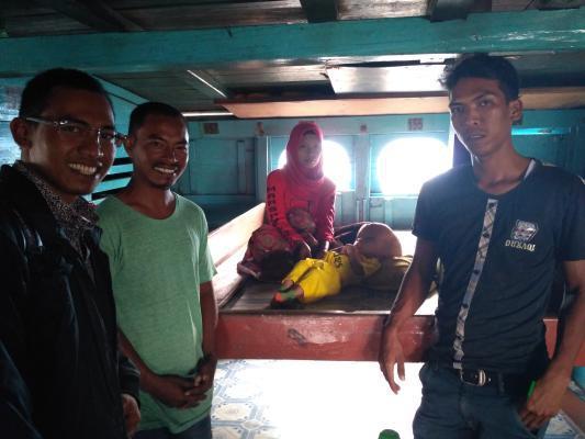 Asraf Bayi Penderita Hydrocephalus di Meranti itu Kembali Kontrol ke Pekanbaru