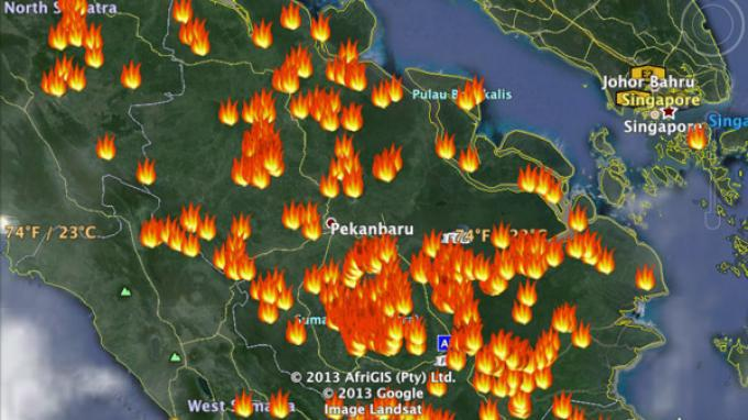 Hotspot Kembali Membara di Riau