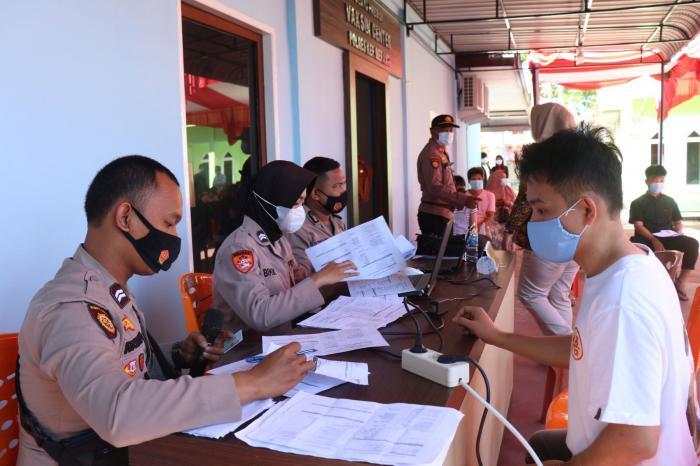 Pasca Diresmikan Kapolda Riau, Gerai Vaksin Center Polres Meranti Layani 1000 Lebih Warga