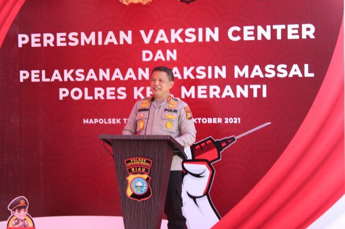 Resmikan Gerai Presisi Vaksin Center Polres Meranti, Kapolda: Ini Yang Kedua Setelah di Mapolda Riau