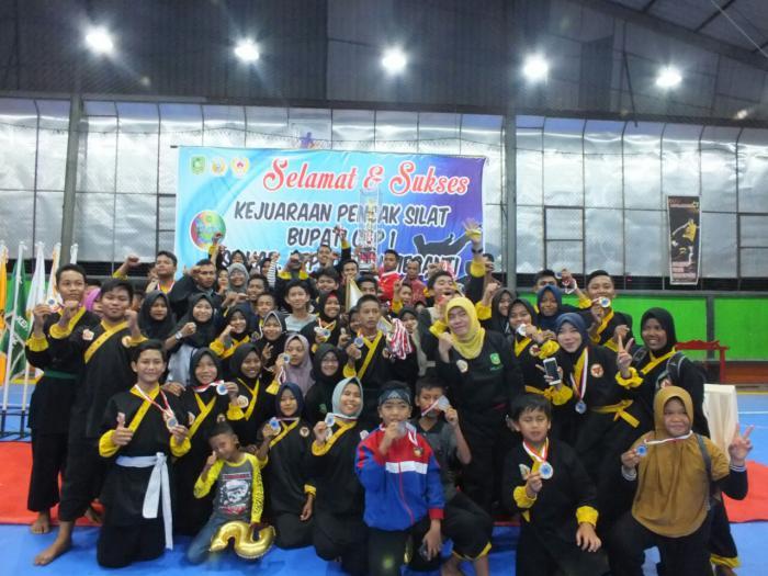 Kejuaraan Pencak Silat Bupati Cup I, Himssi Borong 50 Medali dan Bawa Pulang Piala Juara Umum
