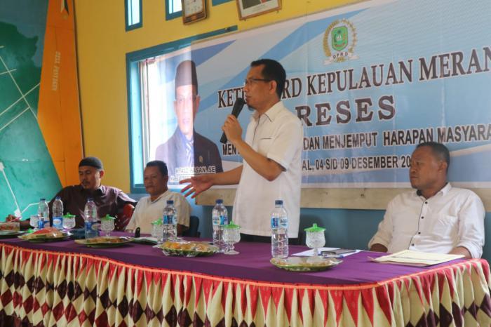 Serap Aspirasi Masyarakat, Ketua DPRD Meranti Reses di Rangsang