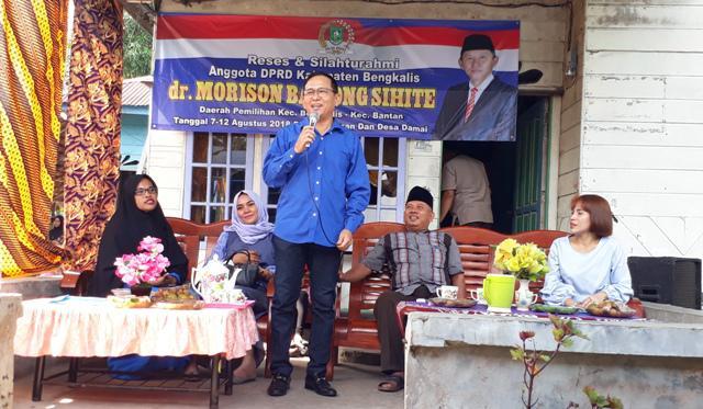 Masa Reses, Anggota DPRD Bengkalis dr Moris Jemput Aspirasi Warga
